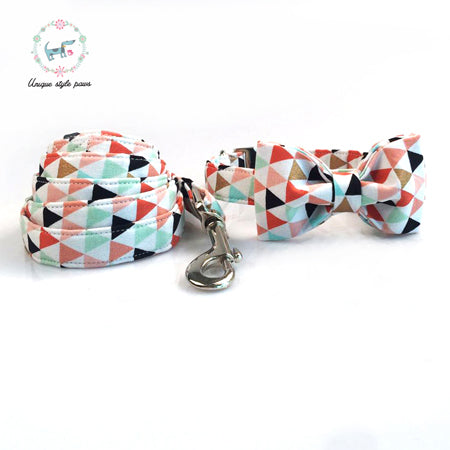 Unique Style Paws Collar + Bow Tie