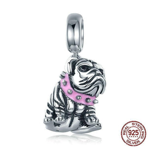 925 Sterling Silver English Bulldog Charm-charm-Ploocy-Ploocy