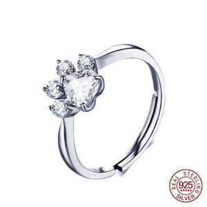 Paw Love 925 Sterling Silver Ring