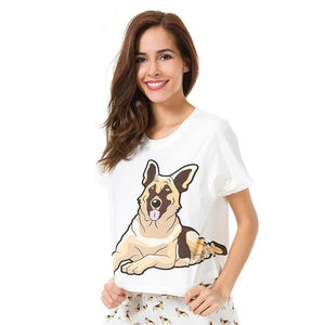 Jenny German Shepherd Pajama Set