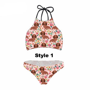 Dachshund Dog Bikini Set