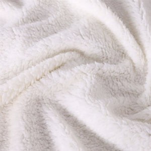 Lolly German Shepherd White Blanket