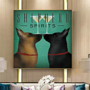 German Shepherd Spirits Canvas Poster