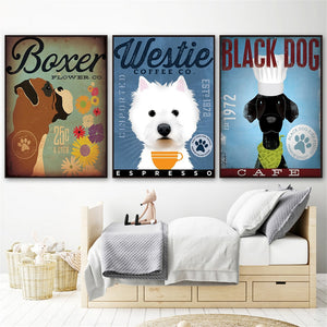 Vintage Dog Canvas Poster