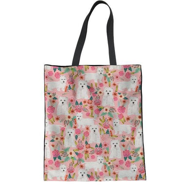 Colorful Westie Tote Bags