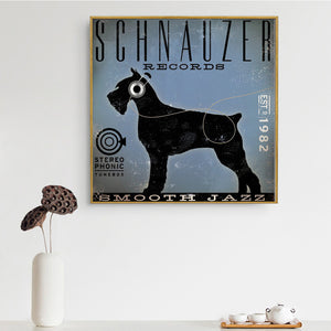 Black Schnauzer Records Canvas Poster
