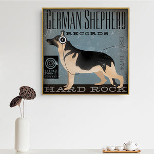 German Shepherd Records Canvas Poster