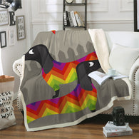 Dachshund JOY Throw Blanket