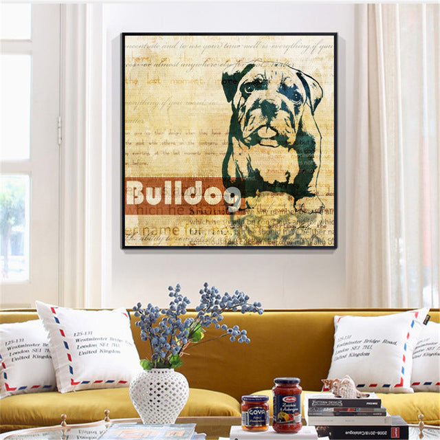 Cool Canvas Poster Dog Prints