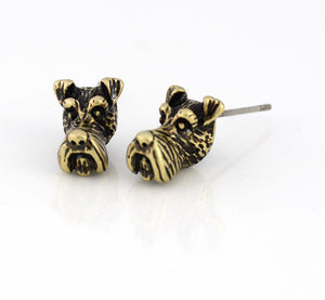 Schnauzer Hug Earrings