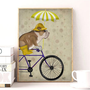 Vintage Bulldog Canvas Poster