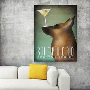 German Shepherd Vintage Poster