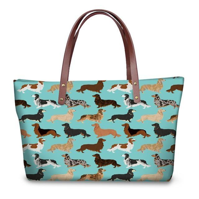 Colorful Dachshunds Shopper Bag