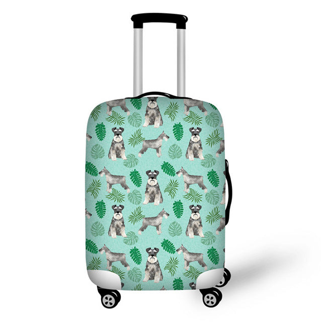 Schnauzer Luggage Protective Cover