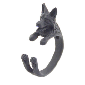 German Shepherd Hug Ring