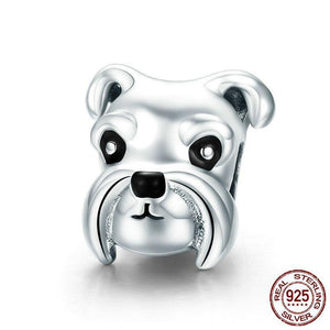 925 Sterling Silver Schnauzer Charm-charm-Ploocy-Ploocy