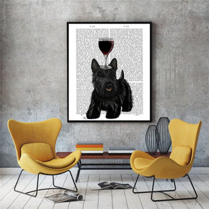Wine Lovers Abstract Canvas Poster