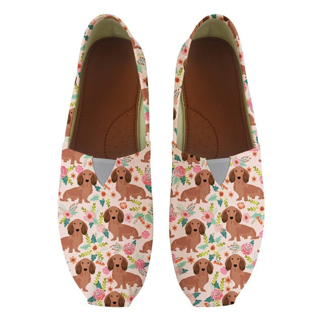 dachshund canvas loafers shoes