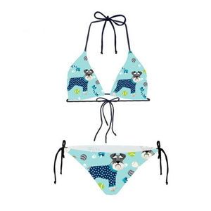 Mini Miniature Schnauzer Bikini Swimsuit