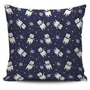 Space Westie Pillow Case