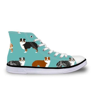 Australian Shepherd Canvas Sneakers