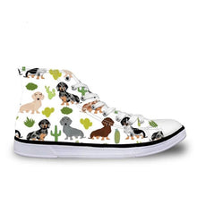Dachshund Canvas Sneakers Shoes