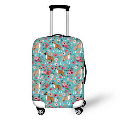 Floral Boxer Luggage Cover