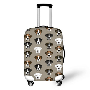 Friendly Faces Boxer Luggage Cover