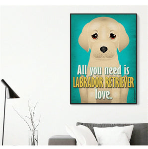 All You Need is Dog Love Canvas Pictures