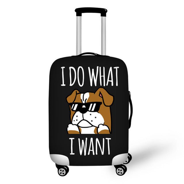 I Do What I Want Bulldog Luggage Suitcase Protective Cover