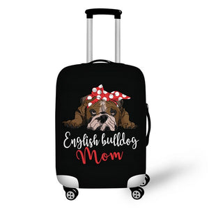 English Bulldog Mom Luggage Cover