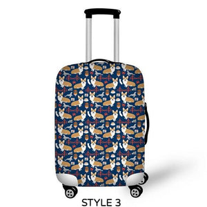 Corgi Luggage Cover
