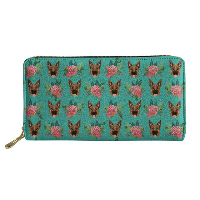 German Shepherd & Flowers Wallet