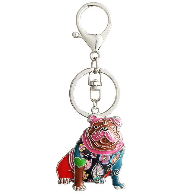 Otis English Bulldog Keychain