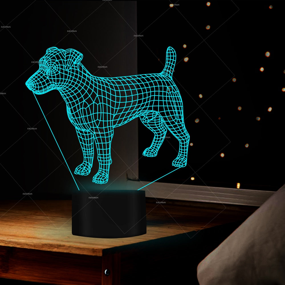 Jack Russell Color Changing Lamp