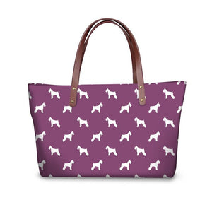Schnauzer pattern Bag & Wallet