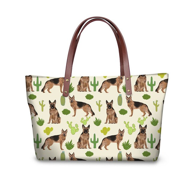 German Shepherd & Cactus Shopper BAg