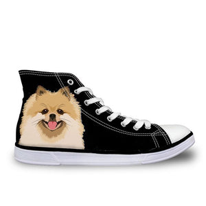 Smiley Pom Canvas Sneakers