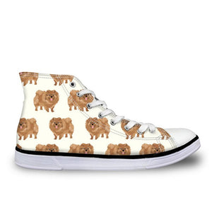 Pomeranian Canvas Sneakers