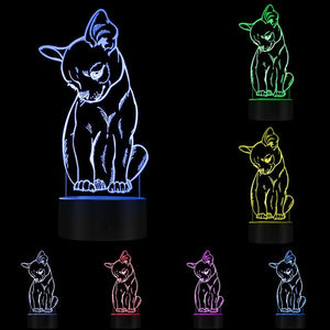 Chihuahua 3D LED Lamp