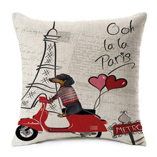 From Paris With Love Dachshund Pillow Case
