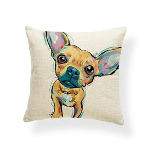 Rainbow Chihuahua Pillow Case