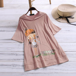 Loose Fit Dachshund Hooded T-Shirt
