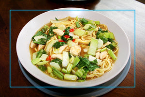 Chilli, Pak Choi, Chicken & Ginger Noodle Soup