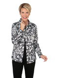 Brushstroke Sateen Print Jacket