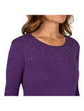 Star Studded Knit Top