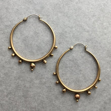 Tapered Hoops Large w/ graduating dots