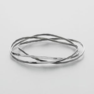 Wavy  Bangle Bracelet Set of 3
