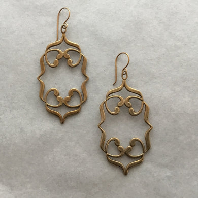 Woven Heart Earrings
