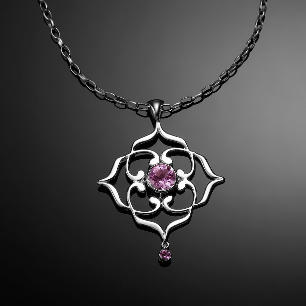 Spirit Necklace with pink amethysts